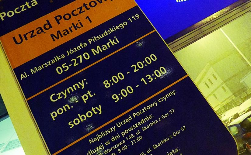 Pismo w sprawie poprawy jakości usług związanych z obsługą klientów Poczty Polskiej S.A. na terenieMarek.