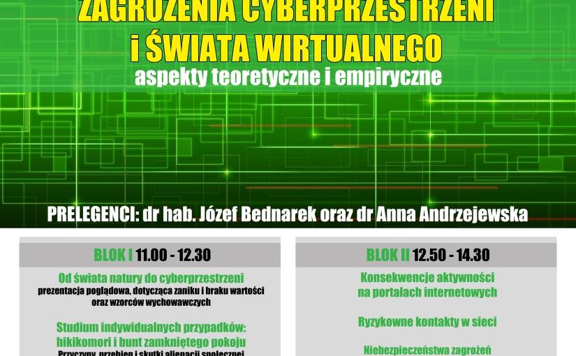 Konferencja dla rodziców i nauczycieli – Zagrożenia Cyberprzestrzeni i Świata Wirtualnego –Zapraszam!