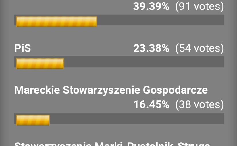 Wybory do Rady Miasta Marki – wyniki internetowejankiety.